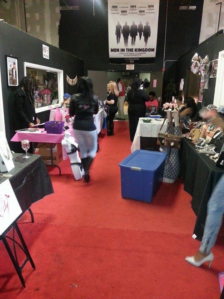 vendors setting up